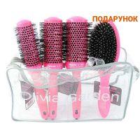 OLIVIA GARDEN артикул: CIzBG4PK Набір щіток Ceramic+Ion Thermal Brush Pink 4 штуки